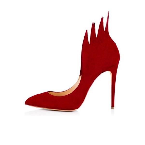 Kadın Süet İnce Topuk Pompalar Kapalı Toe ayakkabı