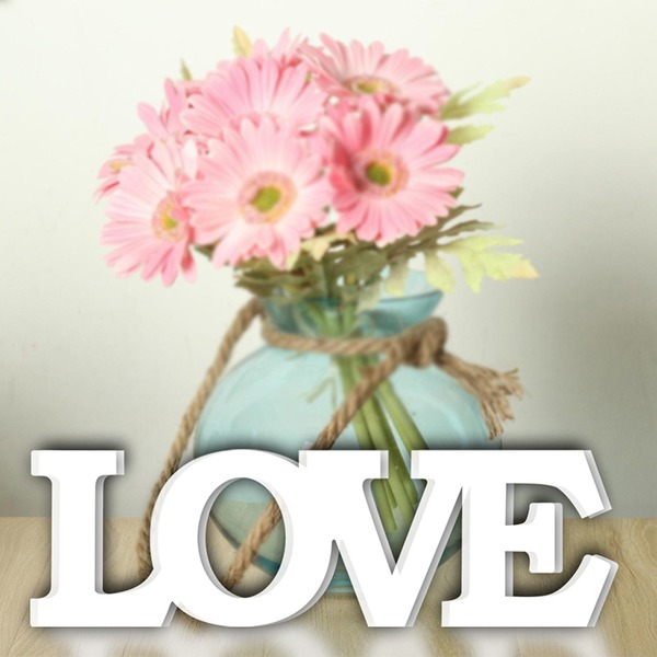 """Amano il design/""""LOVE"""" Bella Legno Wedding Sign (Venduto in un unico pezzo)"""