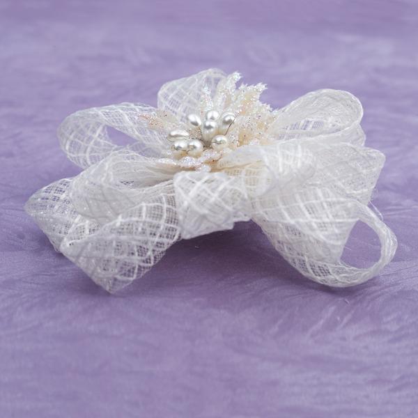 Magnifique De faux pearl/Fil net Chapeaux de type fascinator