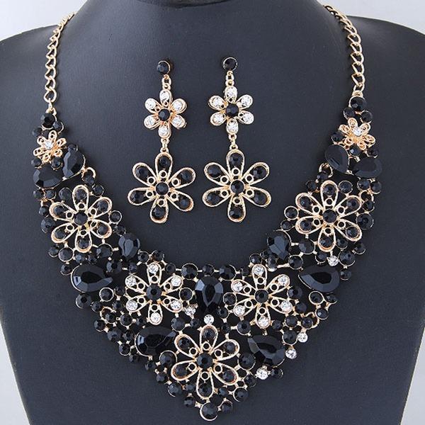 Fashional Alloy Rhinestones Ladies' Jewelry Sets