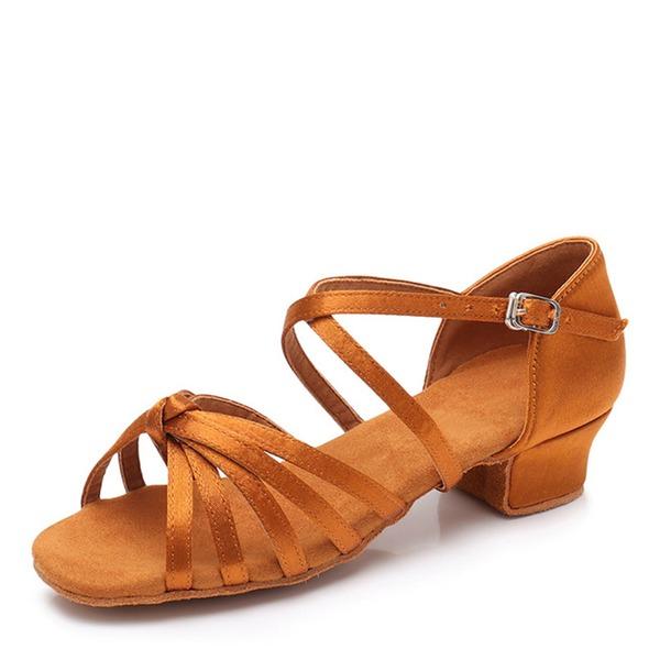 Enfants Satiné Chaussures plates Latin Swing Chaussures de danse