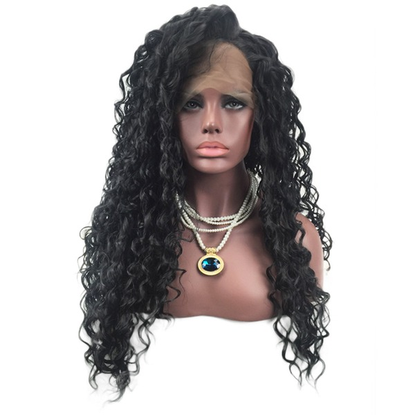 Curly Synthetische Lace Front Pruiken 350g
