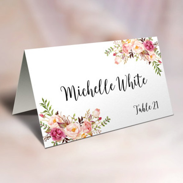 Place Cards Paper Personalized Nice Table Centerpieces(Set of 50)