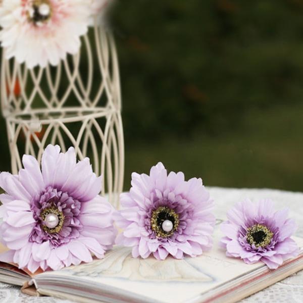 Vakkert Imiterte Perler/Kunstig Silke Hårnåler/Blomster og Fjærene