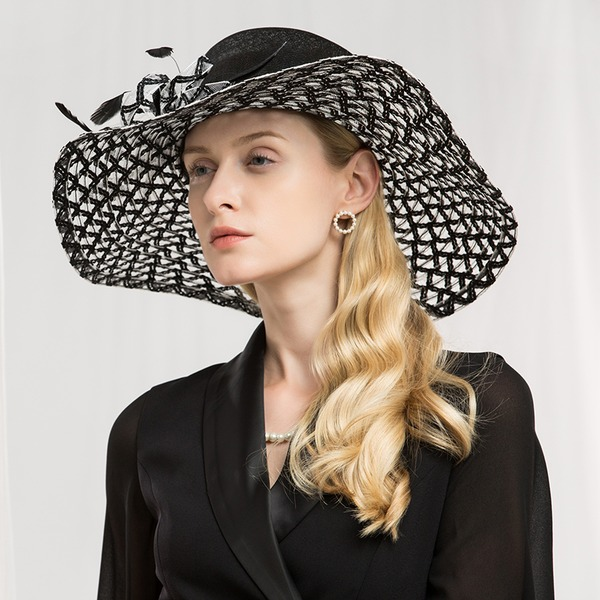 Ladies ' Efterspurgte/Glamourøse/Elegant/Forbløffende/Fancy/High Quality Kambriske med Fjer Fascinators