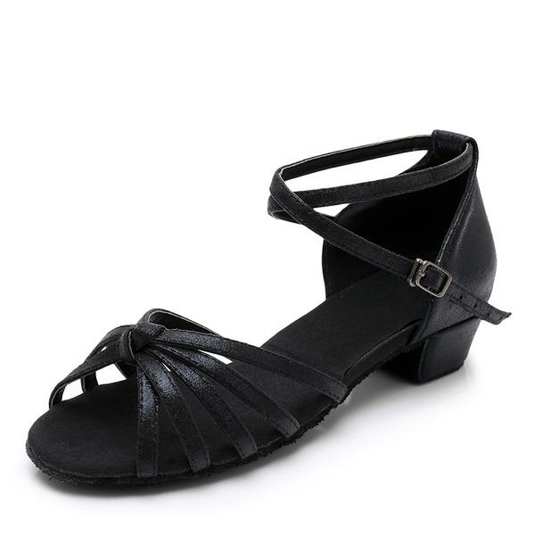 Mulheres Couro Latino com Fivela Sapatos de dança