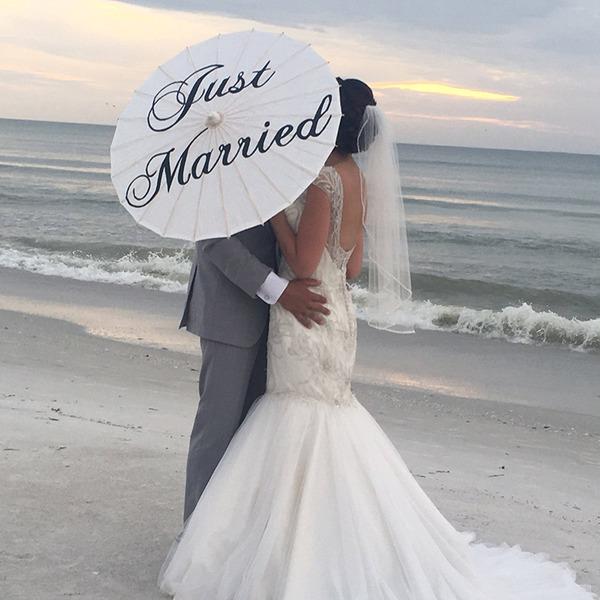 Olje papir Bryllup Paraplye