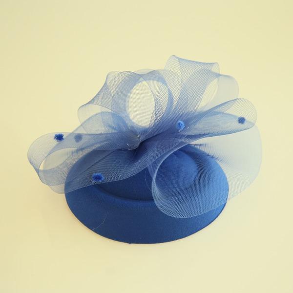 Dames Beau Feather/Fil net/Velours Chapeaux de type fascinator