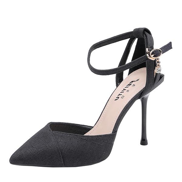 Женщины Атлас Высокий тонкий каблук На каблуках обувь