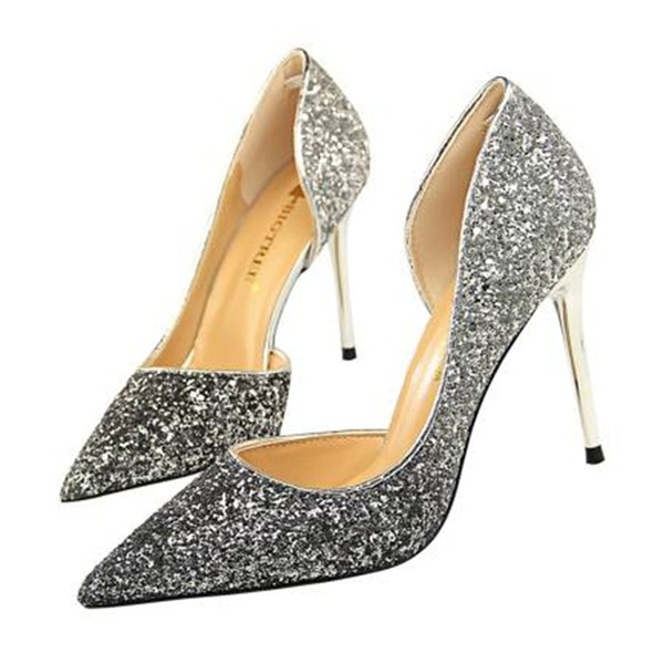 Dla kobiet Byszczący brokat Obcas Stiletto Sandały Czólenka Zakryte Palce Z Cekin obuwie