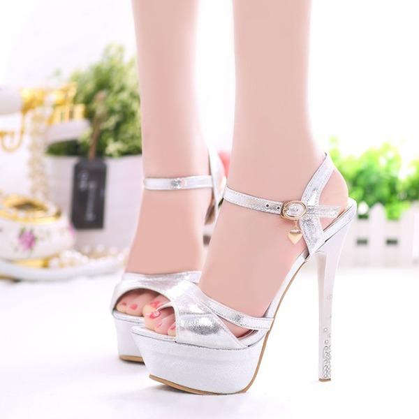 Femmes Similicuir Talon stiletto Sandales Escarpins avec Autres chaussures