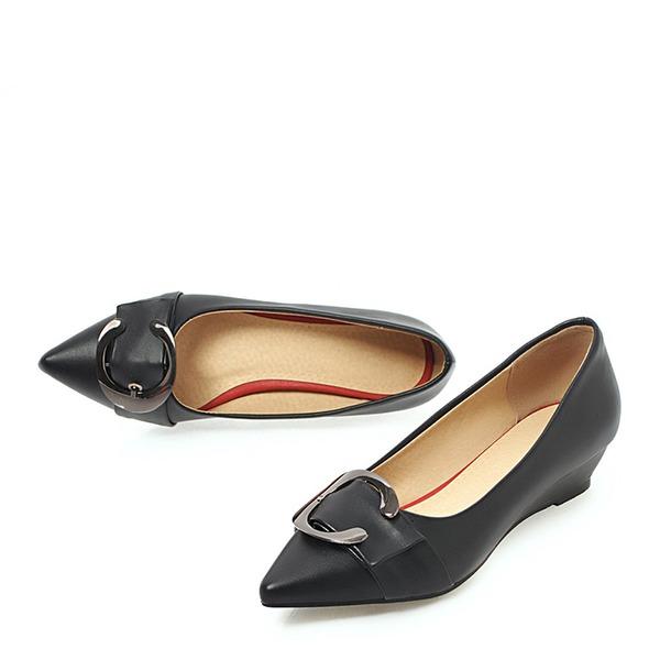 Frauen PVC Keil Absatz Keile mit Strass Schuhe
