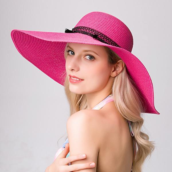 Dames Élégante Raphia paille Chapeaux de plage / soleil