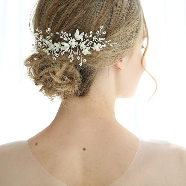 Elegantní Drahokamu Spony do vlasů S Drahokamu/Venetian Pearl Sada 2