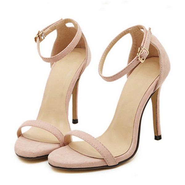 Naisten Mokkanahka Piikkikorko Sandaalit Avokkaat Peep toe jossa Solki kengät