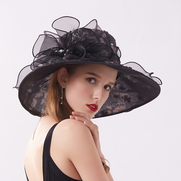 Bayanlar Klasik/Güzel İpek Ile Imitasyon İnci Plaj / Güneş Şapkaları/Kentucky Derby Şapkaları/Çay Partisi Şapkaları