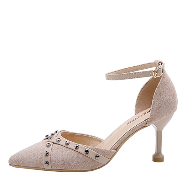 Kvinnor Mocka Stilettklack Pumps skor