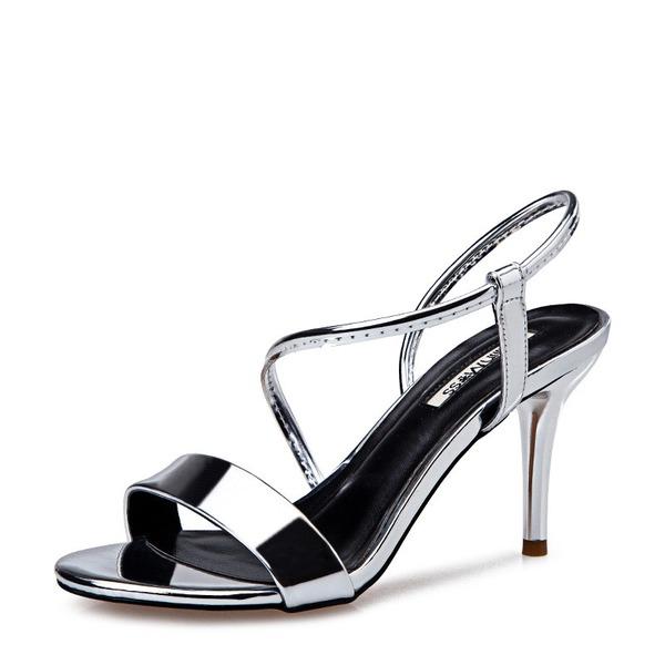 Naisten Kiiltonahka Piikkikorko Sandaalit Avokkaat Peep toe jossa Muut kengät