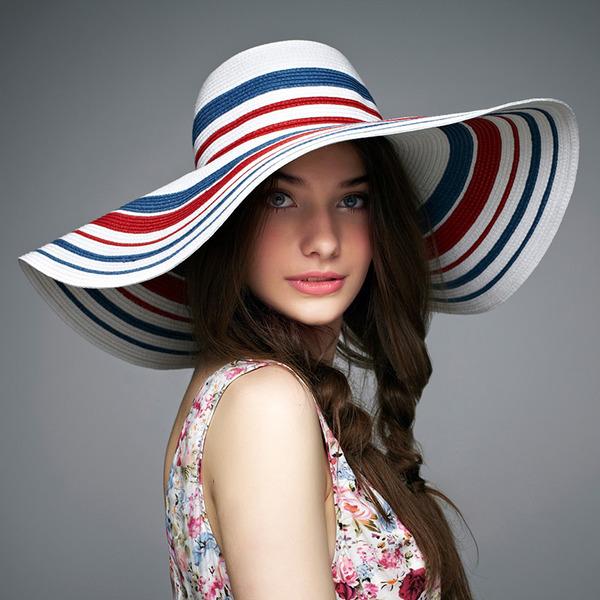 Dames Colorful Rotin paille Disquettes Chapeau/Chapeau de paille/Kentucky Derby Des Chapeaux
