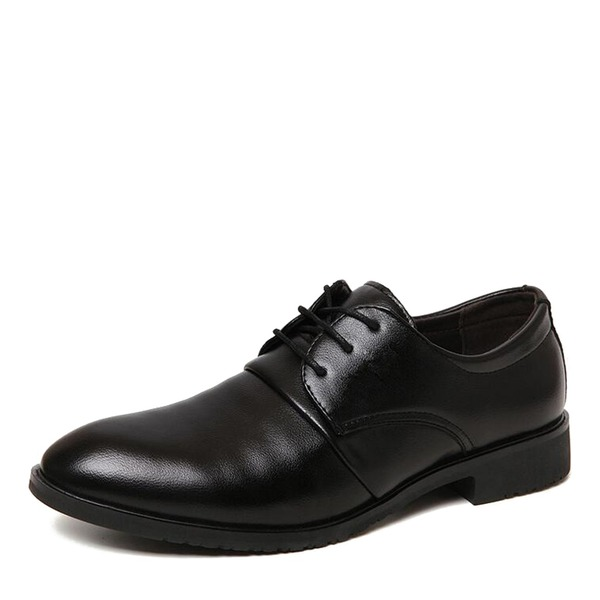 Herren Kunstleder Cap Toes Zuschnüren Abendschuhe Herren-Oxford-Schuhe