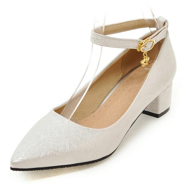 De mujer Cuero Tacón bajo Salón Cerrados Mary Jane con Hebilla zapatos