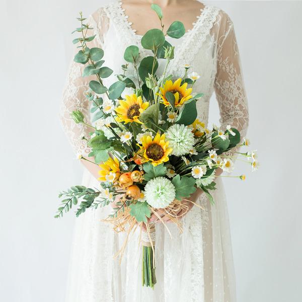 Simpelt og Elegante Kaskade Kunstige Blomster Brude Buketter (Sælges i et enkelt stykke) - Brude Buketter