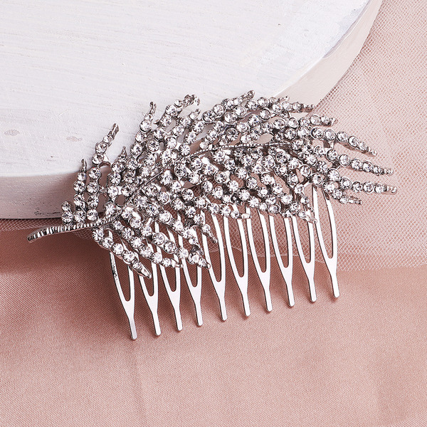 Ladies Rhinestone/Alloy Combs & Barrettes (Sold in single piece)