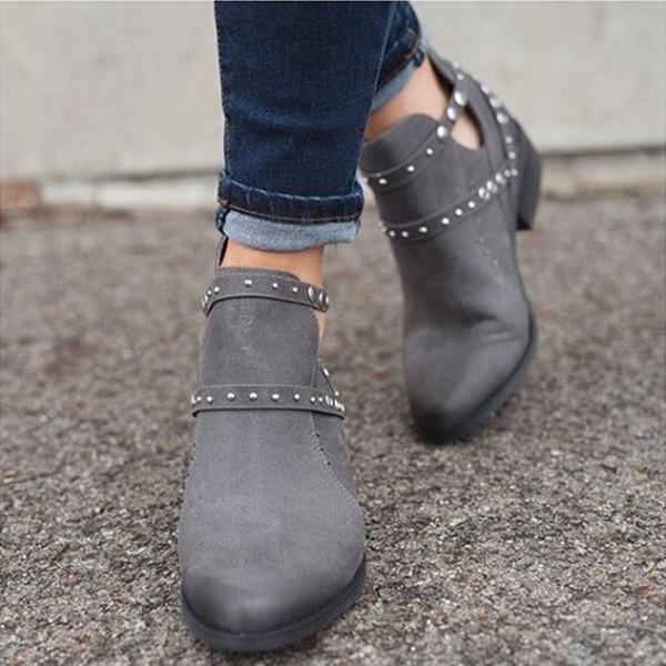 Kvinder Ruskind Flad Hæl Ankelstøvler sko