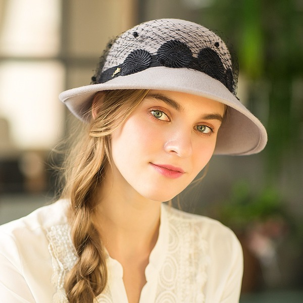Ladies ' Efterspurgte/Glamourøse/Enestående/Håndlavet/Nice/Fancy Uld Diskette Hat