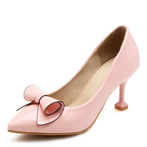 Women's Leatherette Stiletto Heel Pumps With Bowknot shoes