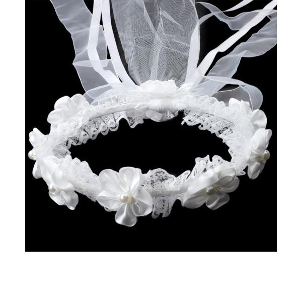 Schön Strass/Nachahmungen von Perlen/Spitze Blumen Mädchen Kopfstück
