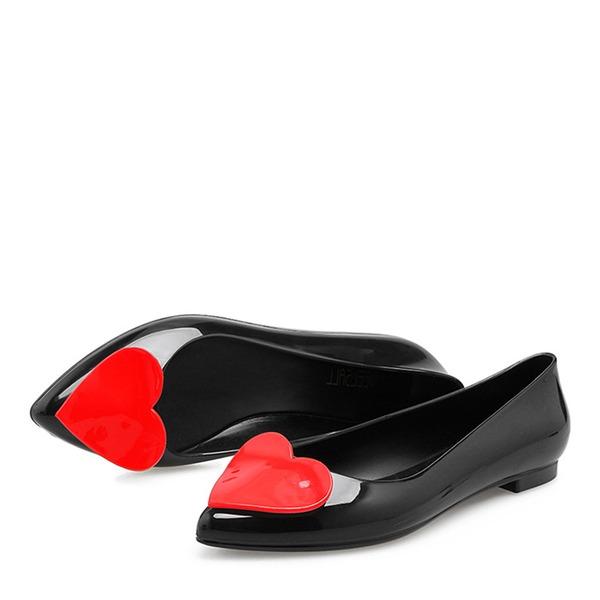 Femmes PVC Chaussures plates Bout fermé chaussures