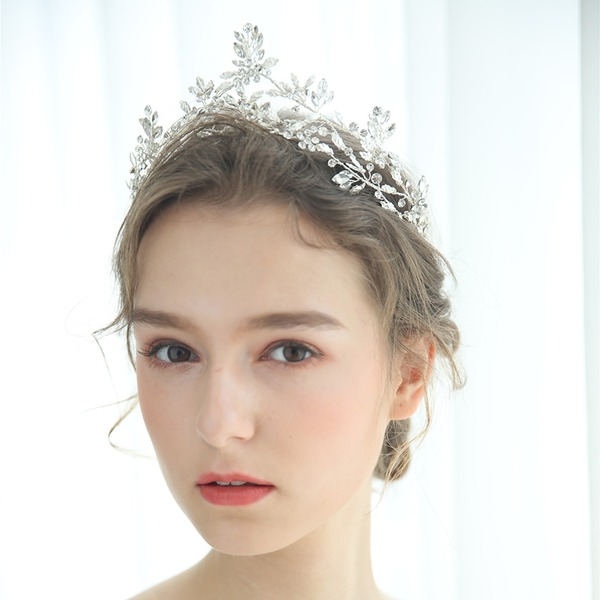 Ladies Glamourous Rhinestone/Alloy/Imitation Pearls Tiaras Rhinestone (Sold in single piece)