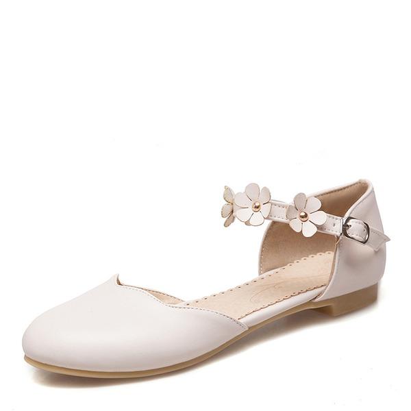 Kadın PU Düz Topuk Daireler Kapalı Toe Ile Çiçek(ler) ayakkabı