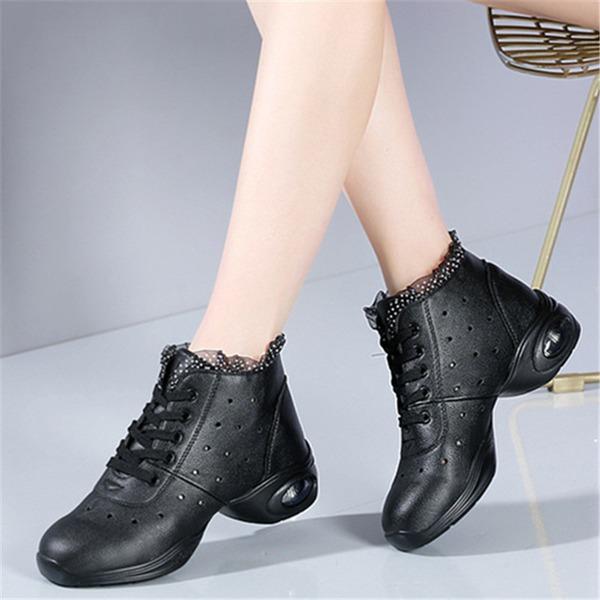 Women's Leatherette Lace Sneakers Modern Jazz Sneakers Dance Shoes