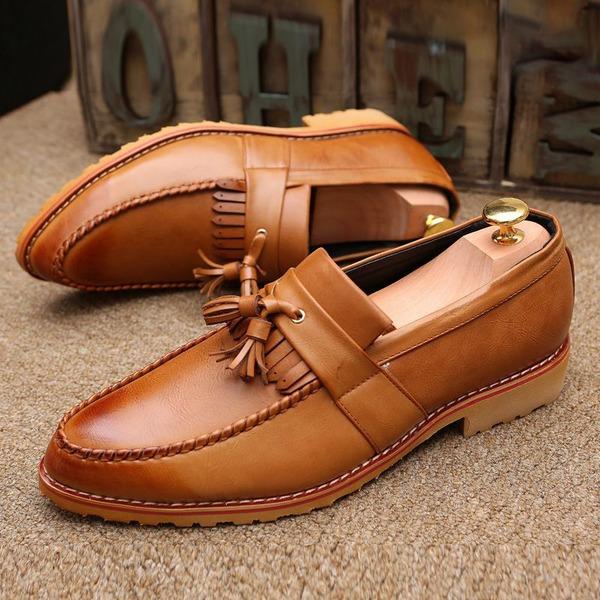 Erkek gerçek deri Püskül Makosenleri Gündelik Erkek Makosen Ayakkabı