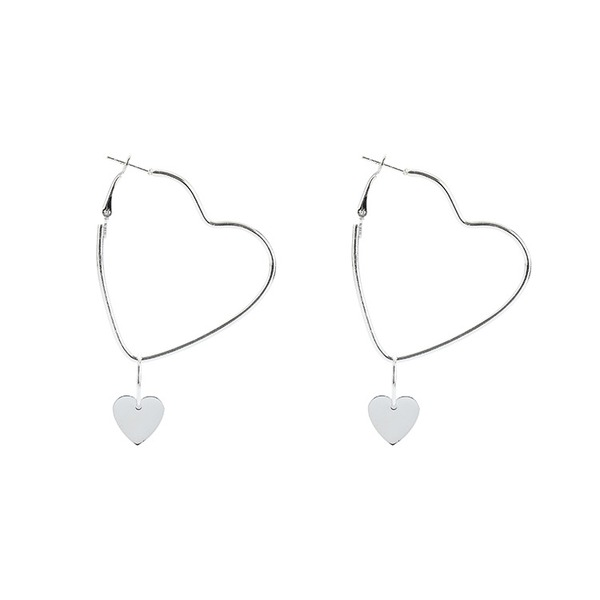 Heart Shaped Alloy Women's Fashion Earrings (Sold in a single piece)