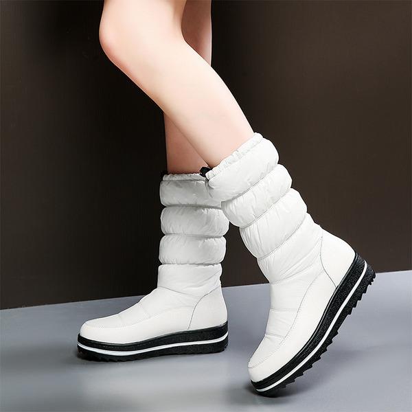 Dámské Tkanina Nízký podpatek Boty Mid-Calf Boots obuv