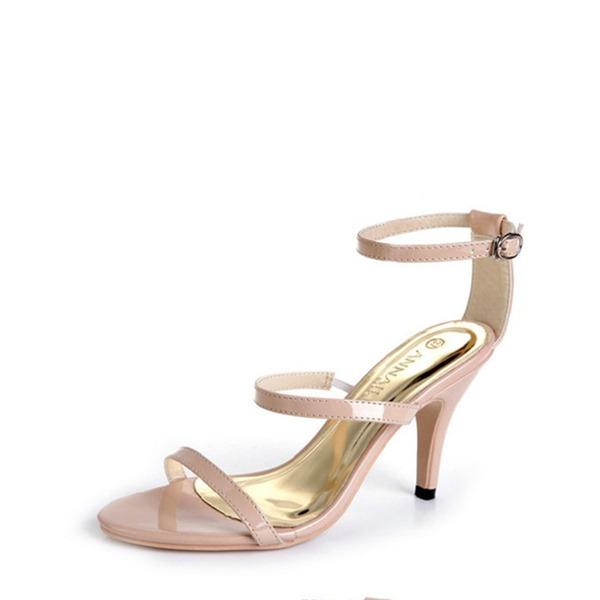 Vrouwen Kunstleer Cone Heel Pumps Sandalen met Gesp