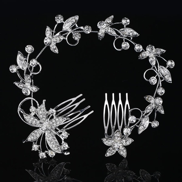 Ladies Beautiful Rhinestone/Alloy Combs & Barrettes