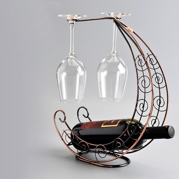 Moon Boat Design Stainless Steel/Plating Bottle Holder / Wine Rack