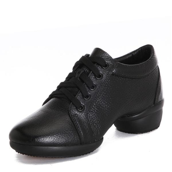 Женщины Натуральня кожа Танцевальные кроссовки Современный Джаз Танцевальные кроссовки Обувь для танцев