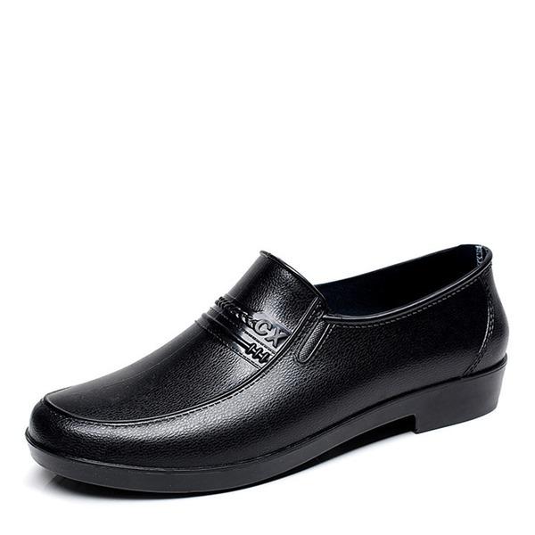 Hombres PVC Botas de lluvia Casual Botas de caballero