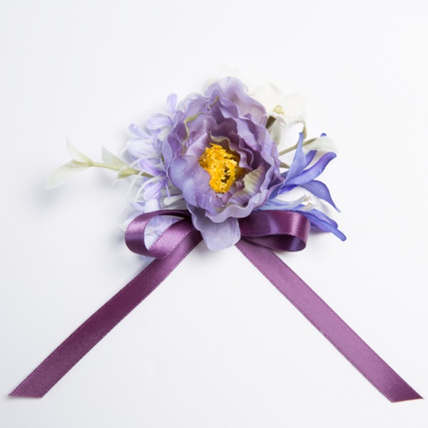 Lovely Free-Form Satin/Fabric Wrist Corsage (Sold in a single piece) -