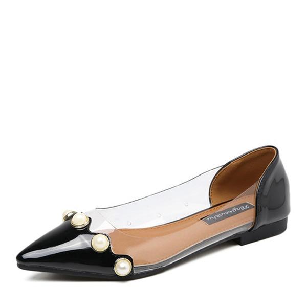Frauen Kunstleder Flache Schuhe Geschlossene Zehe Schuhe