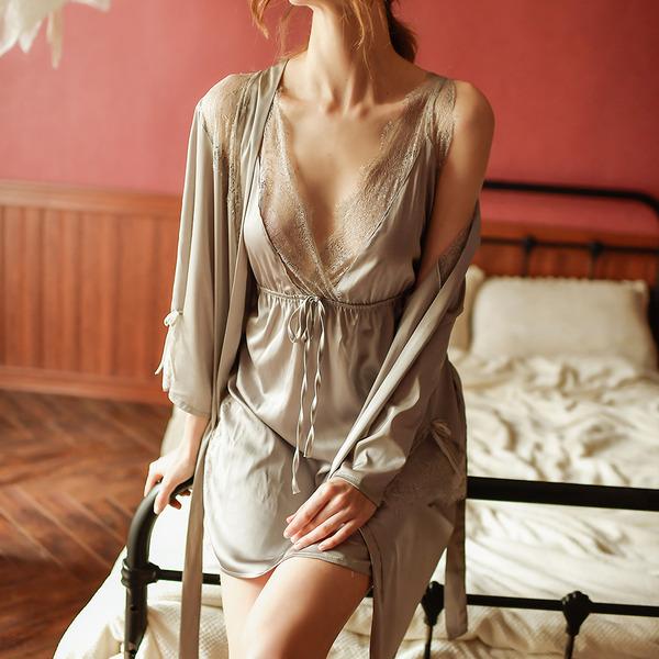Polyester Klasik Gelin/Kadınsı Pijama mağazası/Sleepwear Setleri