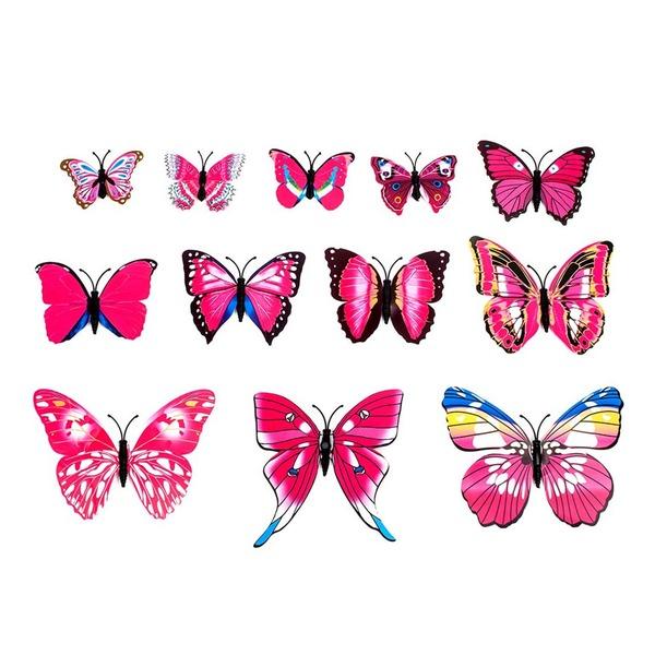 Belle Conception de papillon PVC Accessoires décoratifs (lot de 12)