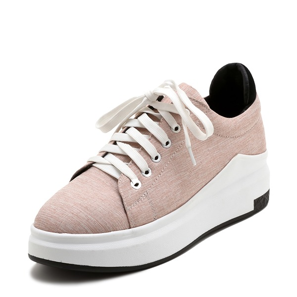 Women's Fabric With Lace-up Sneakers