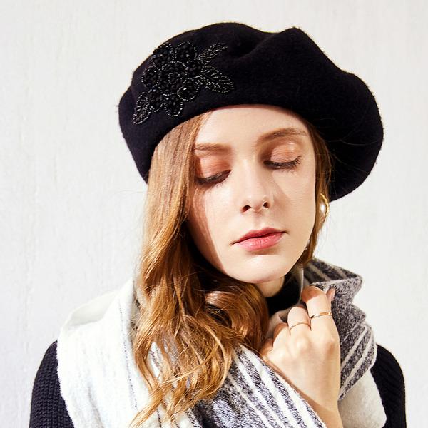 Señoras' Glamorosa/Estilo clásico/Elegante Madera Boina Sombrero