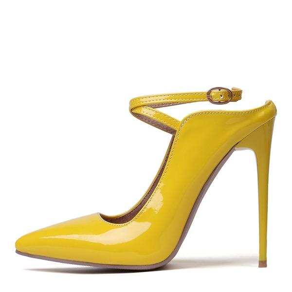 Женщины Лакированная кожа Высокий тонкий каблук На каблуках Босоножки обувь